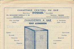 Chauffage Central Au Gaz ROUSSEL Bruxelles Cuisinière Cuisine - Électricité & Gaz