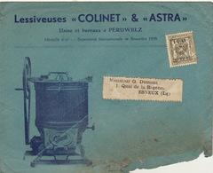 Enveloppe Lessive Lessiveuse Astra Colinet à Peruwelz - Belgium