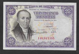 ESPAGNE -  Billet De 25 Pesetas De 1946 - NEUF - [ 3] 1936-1975 : Regency Of Franco