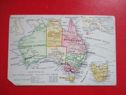 CPA AUSTRALIE PLAN CARTE - Australie