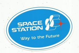 Autocollant , AVIATION & ESPACE , SPACE STATION , Way To The Future - Aufkleber
