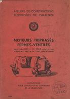 Catalogue ACEC Ateliers De Constructions Electriques De Charleroi Moteur - Electricity & Gas