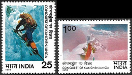 INDIA STAMPS, SET @F 2, 15 JAN 1978, KANCHEJUNGA, MOUNTAINEERING, MNH - India
