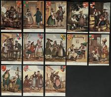 COSTUMES HISTORIQUES SUISSES En 1830 : Lot De 13 Cartes Reproduites Neuves - Costumes