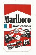 Autocollant , Sports , F1 , Automobile ,tabac MARLBORO , DIJON-PRENOIS ,1981 - Autocollants