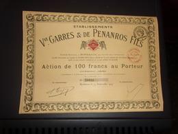 Vve GARRES & DE PENANROS Fils (bordeaux,gironde) - Aandelen