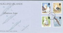 Falklandinseln  Mi.Nr.  529 - 532      FDC       Schwarzbrauen-Albatros  1990 - Falklandinseln