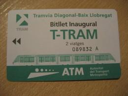 Inaugural TRAM Ticket Barcelona 2004 T-TRAM 2 Viatges Tramway Tranvia SPAIN - Europa