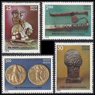 INDIA STAMPS, SET @F 4, 27 JUL 1978, MUSEUM, MNH - India