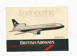 Autocollant , AVIATION & ESPACE , BRITISH AIRWAYS , Tristar L1011-1 - Autocollants
