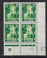 """Algerie Coins Datés YT 341 """" Musée Du Bardo """" Neuf** Du 8.1.57 - Autres"""