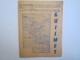 Publicité Dépliant Touristique La Cotinière Hôtel Guilmet Ile D'Oléron - Dépliants Turistici