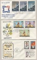 Pilipinas / Phillipines - 1972 - 3 FDC's - No Address - Development Bank, Pope Paul VI, Kennedy, Bonifacio, Magsaysay - Filippijnen