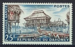 Dahomey (Benin), Ganvie, Lake Village, 1960, MH VF - Benin - Dahomey (1960-...)