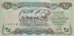 IRAQ 25 DINAR 1980 P-66b LARGE HORSES NOTE UNC */* - Irak