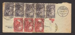 7807- Deutschland , Germany , Parcel Dated 28th Feb 1920 From Geislingen To Switzerland – Nice Franking Michel 94 A I X - Germany