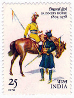 INDIA STAMPS, 25 NOV 1978, SKINNER'S HORSE, MNH - India