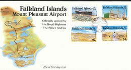 Falklandinseln  Mi.Nr.  423 -426 -   FDC    Eröffnung Des Flughafens Mount Pleasant.  1985 - Falklandinseln