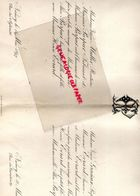 54- NANCY- RARE FAIRE PART MARIAGE  ALICE PURPUR AVEC HENRI EVRARD-VEUVE MULLER RENTIERE-PURPUR FABRICANT-VEUVE GRACIEUX - Mariage