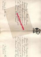 54- NANCY- RARE FAIRE PART MARIAGE  ALICE PURPUR AVEC HENRI EVRARD-VEUVE MULLER RENTIERE-PURPUR FABRICANT-VEUVE GRACIEUX - Boda