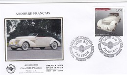 PRINCIPAT D'ANDORRA - FDC AUTOMOBILE CORD 810 PHAETON  - PRIMER DIA 12.04.2013 / 1 - FDC
