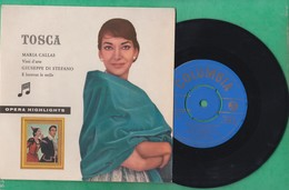 45 T - Maria Callas Vissi D'arte - Guiseppe Di Stefano - E Lucevan Le Stelle - Tosca - Colombia - Oper & Operette