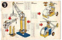 LOT De 4 NOTICES De CONSTRUCTION MECCANO - Boîte 2, 3, 4, 5 - Meccano