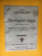 6534 - Le Vin Des 100.000.000 Humagne Rouge 1987 Desfayes-Crettenand Leytron Suisse Pour Industrade - Etiquettes