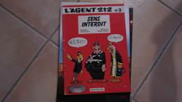 EO L'AGENT 212 T3 SENS INTERDIT   CAUVIN/KOX - Agent 212, L'