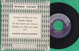 45 T - Musique Tzigane - Orchestre Tzigane De Budapest - Romance Au Clair De Lune - Concerteum - World Music