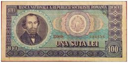 Romania   100    Lei1966 - Romania