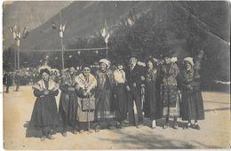 CHAMONIX (74) Carte Photo Fete Groupe De Personnages En Costumes - Chamonix-Mont-Blanc