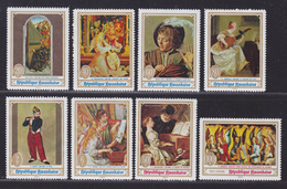 RWANDA N°  295 à 300, AERIENS N° 6 & 7 ** MNH Neufs Sans Charnière, 8 Valeurs,TB (D4689) Tableaux, Musique - Rwanda