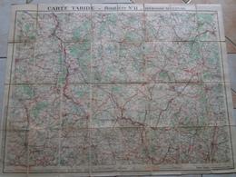 Carte  TARIDE Routière N° 11 Bourgogne Nivernais   ( Sur Toile / Ou Carte Toilée ) - Roadmaps