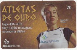 BRAZIL(Brasil Telecom) - Atletas De Ouro II, Marcia Narloch/Athletics, 08/04, Used - Sport
