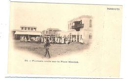 CPA Djibouti Fantasia Arabe Sur La Place Menilek Afrique - Djibouti