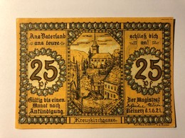 Allemagne Notgeld Reinerz 25 Pfennig - [ 3] 1918-1933 : Weimar Republic