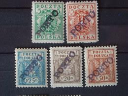 """Polen /Poland """" Porto Briefmarken –Sonder Stempel Ausgabe """" Ungebraucht - Postage Due"""