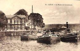 Liège Herstal - Le Bassin De Coronmeuse (animée, Remorqueur, Péniches) - Herstal