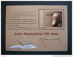 150th Birth Anniversary Of J. Basanavichus # Lietuva Litauen Lituanie Litouwen Lithuania 2001 MNH # Mi. 779 Block 24 - Lithuania