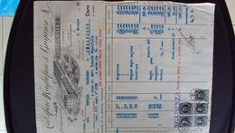 ITALIA CALZE VECCHIA FATTURA CALZIFICIO BREGANZE VICENZA 1936 BELLA ILLUSTRAZIONE - Cambiali