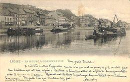 Liège Herstal - La Meuse à Coronmeuse (animée, Edit J. Piette 1901) - Herstal