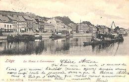 Liège Herstal - La Meuse à Coronmeuse (animée, Edit J P S, 1902) - Herstal