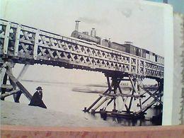 PONT PROVISOIRE DE PLAISANCE 1862 TRENO TRAIN LOCOMOTIVA TRENI ARCHIVIO FOTO DEROCHE HEYLAND N1990 GN20816 - Trains