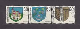 Czechoslovakia Tschechoslowakei 1973 Gest ⊙ Mi 2144-2146 Sc 1886-1888 Coat Of Arms. Städtewappen. Mikulov, Zlutice C7 - Czechoslovakia