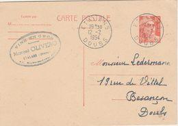 Carte Commerciale / Entier / Marcel OLIVERO / Vins En Gros / 25 Etalans Doubs - Maps
