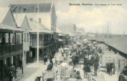 BERMUDA - Hamilton - Crop Season On Front Street (B&W) - Good Animation Etc - Bermuda