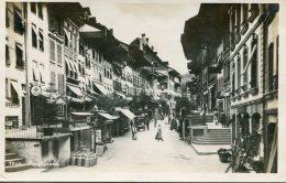 SWITZERLAND - RPPC - Thun Hauptgasse - Excellent Thun Postmark 1924 Etc - BE Berne
