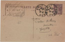 Carte Commerciale 1927 / Entier / G. DERLOCHE / Serrurerie / 80 Ault Somme - Maps