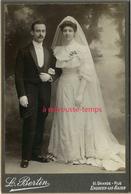 Grand CDV (CAB) Un Beau Mariage-photo L. Bertin Grande Rue à Enghien Les Bains - Photos